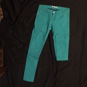 Forever 21 teal pants